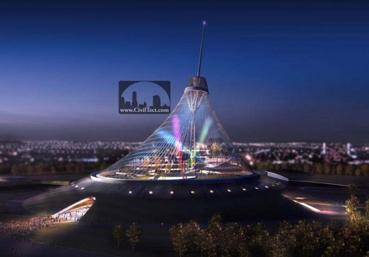 بزرگترین چادر جهان Khan Shatyr (بزرگترین سازه کششی جهان)