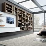 طراحی داخلی اتاق نشیمن سفید - خاکستری