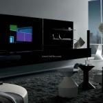 طراحی معماری داخلی اتاق نشیمن سفید - مشکی