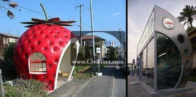 طرحهای جالب برای ایستگاه اتوبوس