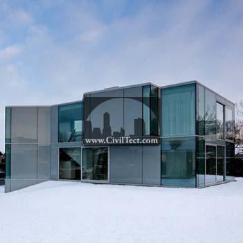 خانه ی کریستال (خانه ای با دیوارهای شیشه ای)