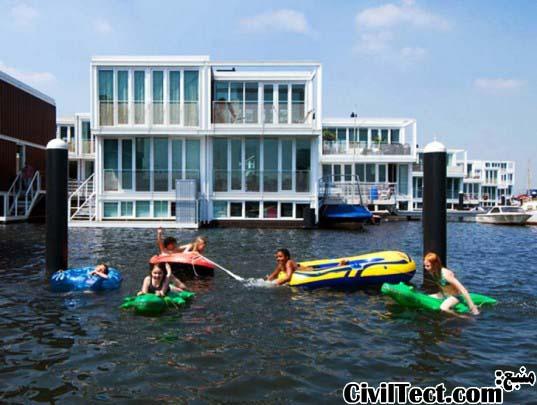 خانه های شناور در هلند!
