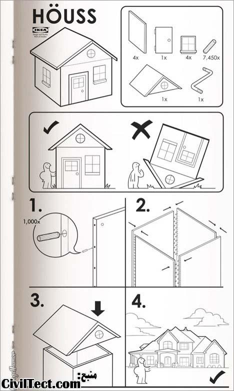 خانه های IKEA ! (طنز تصویری)
