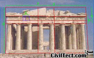 استفاده از نسبت طلائی در آثار معماری یونان باستان