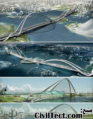 بزرگترین پل قوسی دنیا – دبی