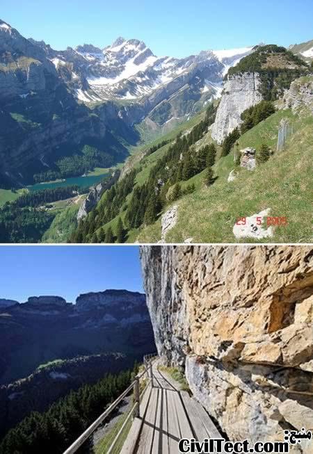 مسیر Ebenalp Path سوئیس - وحشتناکترین مسیرهای جهان