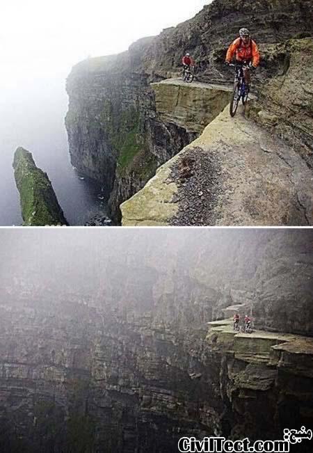 مسیر The Cliffs of Moher ایرلند - وحشتناکترین مسیرهای جهان