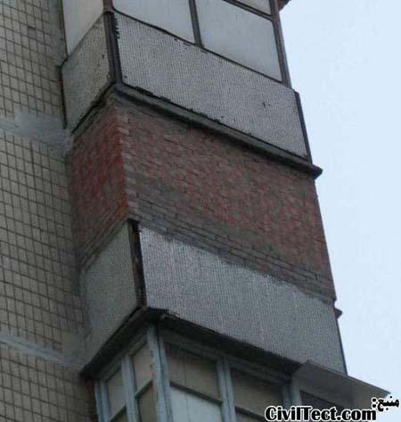 نور ساختمون زیاد بود بجای پرده گفتیم پنجره ها و بالکنها رو دیوار چینی کنن!!