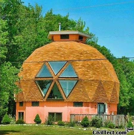خانه ای با گنبد عجیب در Maryland آمریکا
