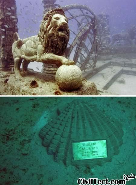 قبرستان زیر آب در آمریکا