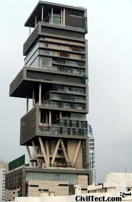 زشت ترین ساختمان هند - ساختمان Antilla