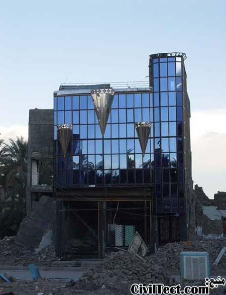 سالم ماندن نمای شیشه ای - زلزله بم
