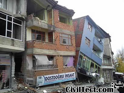 شکست ناشی از طبقه نرم ساختمان - زلزله ترکیه