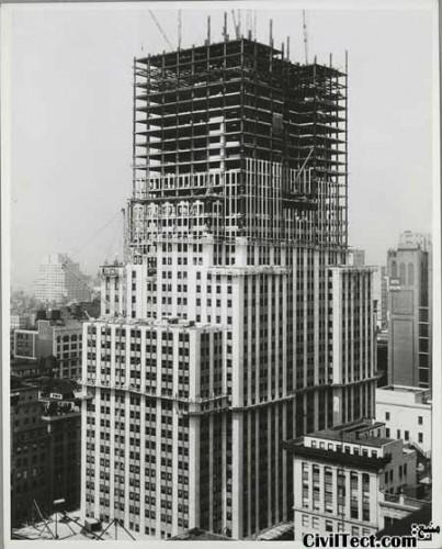 امپایر استیت در حال تکمیل شدن - 40 طبقه از 102 طبقه نهایی