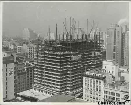 امپایر استیت در حال تکمیل شدن - 16 طبقه از 102 طبقه نهایی