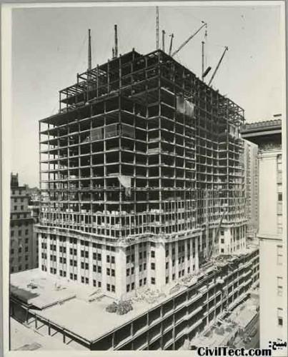امپایر استیت در حال تکمیل شدن - 13 طبقه از 102 طبقه نهایی