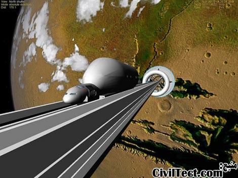 ساخت بالابری از زمین به فضا - سال 2050