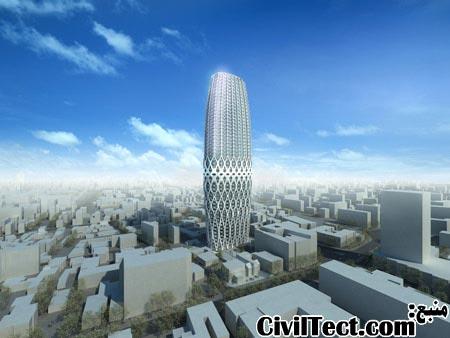 برج Dorobanti (دوروبانتی) - نمای سازه ای - زاها حدید