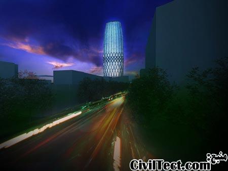 برج جدید بخارست طراحی شده توسط معمار معروف زاها حدید