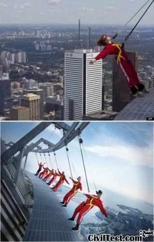 راه رفتن در بالای برج سی ان - CN TOWER