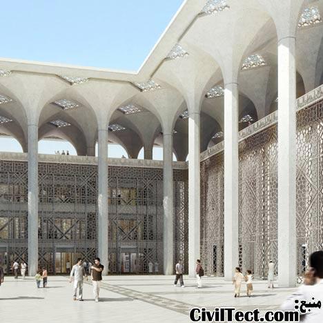 طرح معماری مسجد مدرن برای الجزیره