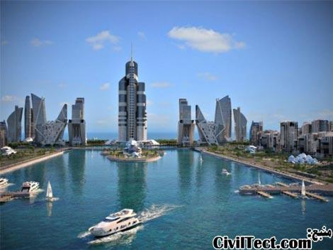 رونمایی طرح جدید بلندترین برج جهان در آذربایجان (۱۰۵۰ متری)