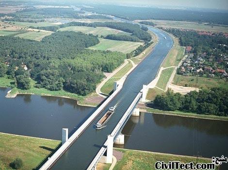پل آبی - رودخانه ای روی رودخانه دیگر - آلمان
