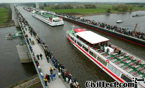 پل آبی در آلمان – رودخانه ای بر فراز رودخانه ای دیگر!
