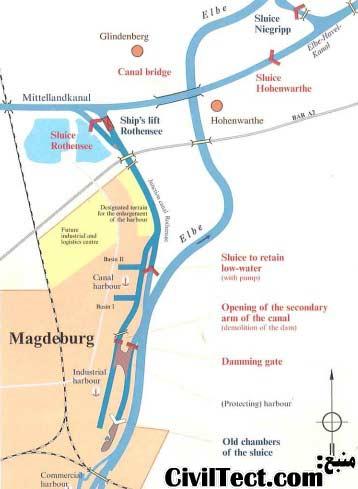 نقشه ای کلی از محل اجرای پروژه و محل احداث پل آبی