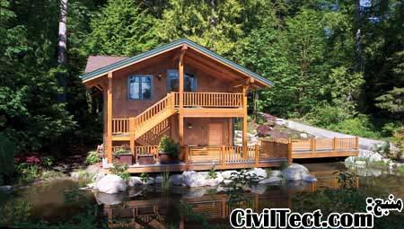 پلان معماری خانه های چوبی – سری ۱