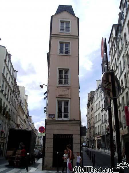 خانه باریک پاریس - کوچکترین و بارکترین خانه های فرانسه
