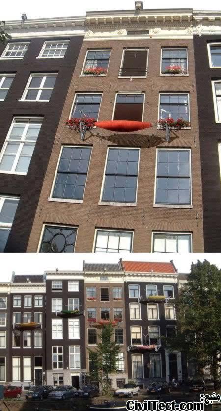 بالکنی برای خانه های هلندی