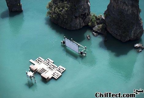 سینمای شناور بر روی آب
