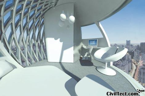 نمای داخلی اتاقهای هتل آسمانی