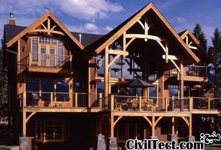 طراحی سازه چوبی - چگونه خانه چوبی مناسب طراحی کنیم