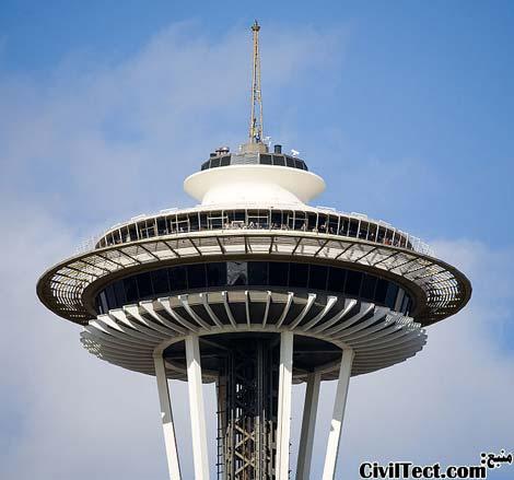 برج معروف سوزن فضایی - نماد سیاتل (space needle)