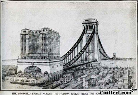 طرح پل عظیم بر روی رودخانه هادسون