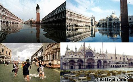 غرق شدن تدریجی شهر ونیز Venice Italy
