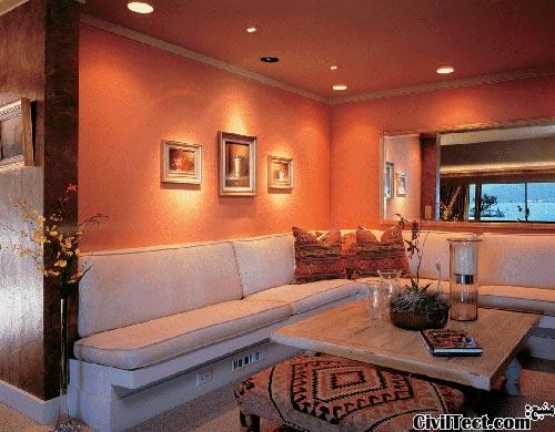 بلندتر نشان دادن سقف خانه - دکوراسیون داخلی - استفاده از لامپهای نقطه ای