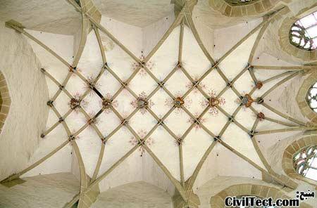 """سقف کلیسای """" بانوی ما """" (Our Lady) در Lienzingen ( Muhlacker )"""