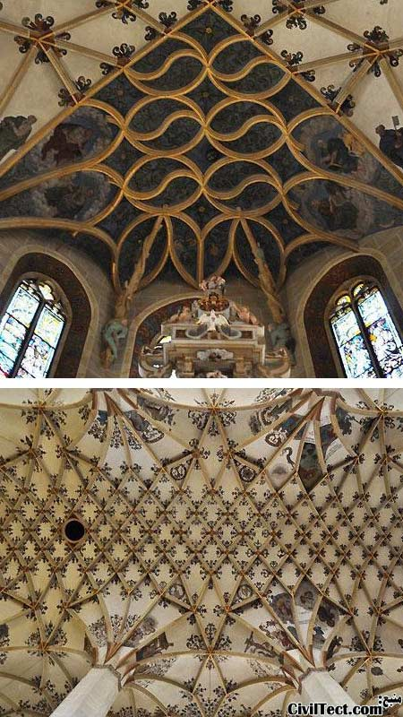سقف قوسی (طاقی) St. Mary در Pirna