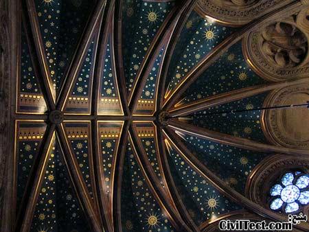 سالن بزرگ در تالار شهر منچستر - سقف طاقی