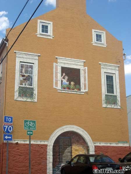 نقاشی سه بعدی روی خانه