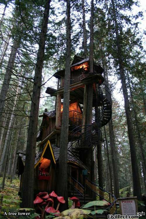 برج درختی - خانه چوبی