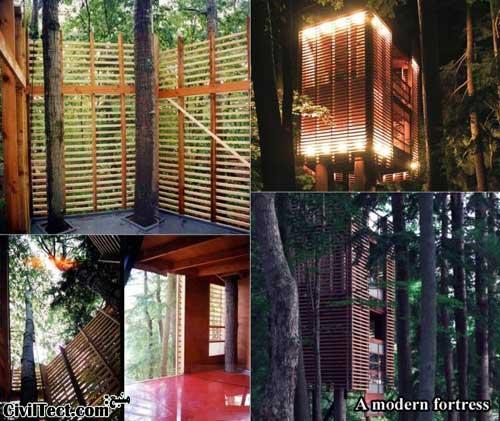 خانه درختی مدرن - معماری جالب خانه درختی