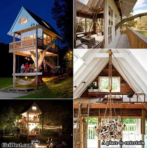 زیباترین خانه های درختی چوبی - جایی برای سرگرمی
