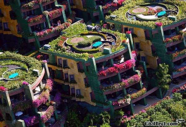 باغ گل عمودی در تایلند – آپارتمانهای گلباران!