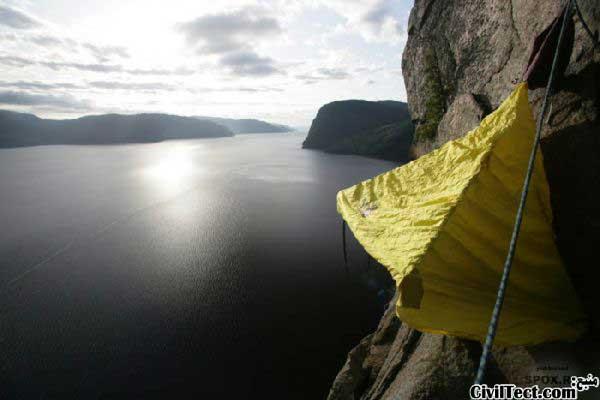 چادر زدن در صخره های عمودی