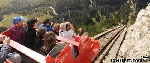 قطار سواری در کوه های سوئیس