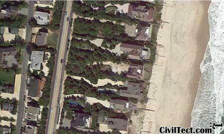 عکسهای قبل و بعد طوفان سندی